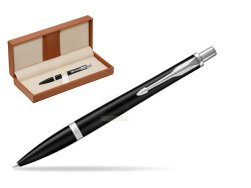 Parker Urban Muted Black CT Ballpoint Pen  in classic box brown