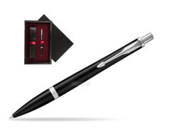 Parker Urban Muted Black CT Ballpoint Pen  single wooden box  Black Single Maroon