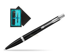 Parker Urban Muted Black CT Ballpoint Pen  single wooden box  Black Single Turquoise