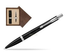Parker Urban Muted Black CT Ballpoint Pen in single wooden box  Wenge Single Ecru