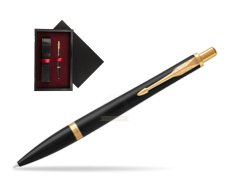 Parker Urban Muted Black GT Ballpoint Pen  single wooden box  Black Single Maroon