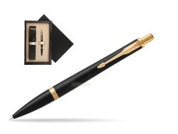 Parker Urban Muted Black GT Ballpoint Pen  single wooden box  Wenge Single Ecru