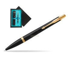 Parker Urban Muted Black GT Ballpoint Pen  single wooden box  Black Single Turquoise