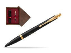 Parker Urban Muted Black GT Ballpoint Pen in single wooden box  Wenge Single Maroon