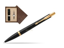 Parker Urban Muted Black GT Ballpoint Pen in single wooden box  Wenge Single Ecru