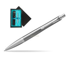 Parker Urban Premium Silvered Powder Cap CT Ballpoint Pen  single wooden box  Black Single Turquoise