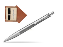 Parker Urban Premium Silvered Powder Cap CT Ballpoint Pen  single wooden box  Mahogany Single Ecru