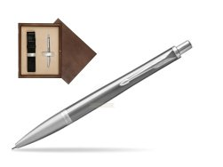 Parker Urban Premium Silvered Powder Cap CT Ballpoint Pen  single wooden box  Wenge Single Ecru