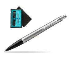 Parker Urban Metro Metallic CT Ballpoint Pen  single wooden box  Black Single Turquoise