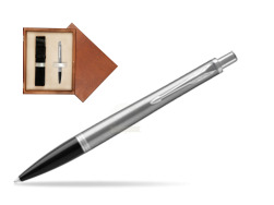 Parker Urban Metro Metallic CT Ballpoint Pen in single wooden box  Mahogany Single Ecru