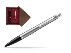Parker Urban Metro Metallic CT Ballpoint Pen  single wooden box  Wenge Single Maroon