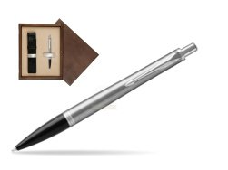 Parker Urban Metro Metallic CT Ballpoint Pen in single wooden box  Wenge Single Ecru