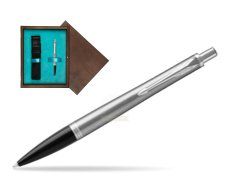 Parker Urban Metro Metallic CT Ballpoint Pen in single wooden box  Wenge Single Turquoise