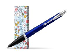 Parker Urban Nightsky Blue CT Ballpoint Pen in cover Good luck