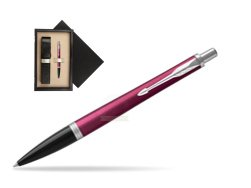 Parker Urban Vibrant Magenta CT Ballpoint Pen  single wooden box  Wenge Single Ecru