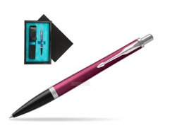 Parker Urban Vibrant Magenta CT Ballpoint Pen  single wooden box  Black Single Turquoise