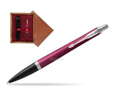Parker Urban Vibrant Magenta CT Ballpoint Pen  single wooden box Mahogany Single Maroon