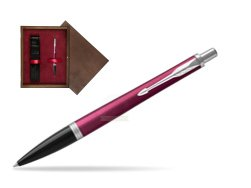 Parker Urban Vibrant Magenta CT Ballpoint Pen  single wooden box  Wenge Single Maroon