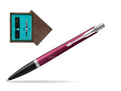 Parker Urban Vibrant Magenta CT Ballpoint Pen  single wooden box  Wenge Single Turquoise