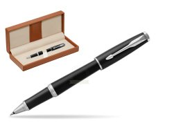 Parker Urban Muted Black CT Rollerball Pen  in classic box brown