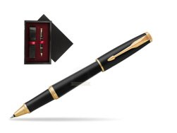 Parker Urban Muted Black GT Rollerball Pen  single wooden box  Black Single Maroon