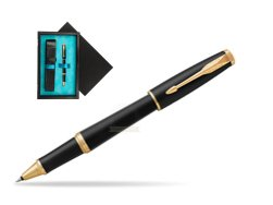 Parker Urban Muted Black GT Rollerball Pen  single wooden box  Black Single Turquoise