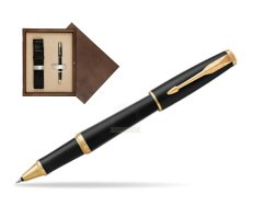 Parker Urban Muted Black GT Rollerball Pen in single wooden box  Wenge Single Ecru
