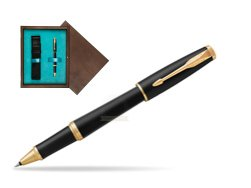 Parker Urban Muted Black GT Rollerball Pen in single wooden box  Wenge Single Turquoise