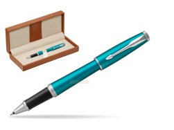 Parker Urban Vibrant Blue CT Rollerball Pen  in classic box brown