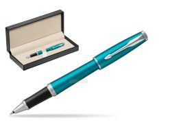 Parker Urban Vibrant Blue CT Rollerball Pen  in classic box  pure black