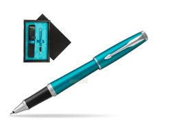 Parker Urban Vibrant Blue CT Rollerball Pen  single wooden box  Black Single Turquoise