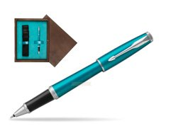 Parker Urban Vibrant Blue CT Rollerball Pen  single wooden box  Wenge Single Turquoise