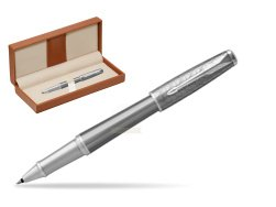 Parker Urban Premium Silvered Powder CT Rollerball Pen  in classic box brown