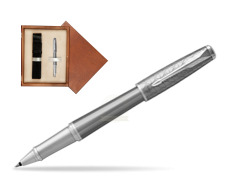 Parker Urban Premium Silvered Powder CT Rollerball Pen  single wooden box  Mahogany Single Ecru