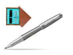Parker Urban Premium Silvered Powder CT Rollerball Pen in single wooden box  Mahogany Single Turquoise