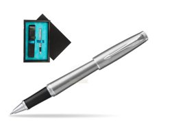 Parker Urban Metro Metallic CT Rollerball Pen  single wooden box  Black Single Turquoise
