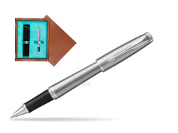 Parker Urban Metro Metallic CT Rollerball Pen in single wooden box  Mahogany Single Turquoise