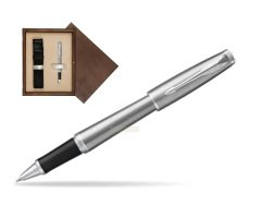 Parker Urban Metro Metallic CT Rollerball Pen in single wooden box  Wenge Single Ecru
