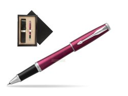 Parker Urban Vibrant Magenta CT Rollerball Pen  single wooden box  Wenge Single Ecru