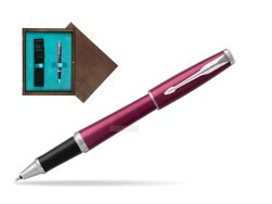 Parker Urban Vibrant Magenta CT Rollerball Pen  single wooden box  Wenge Single Turquoise