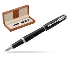 Parker Urban Muted Black CT Fountain Pen   in classic box brown