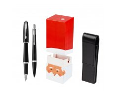 Parker Urban Muted Black CT T2016 Fountain Pen + Ballpoint Pen in a Gift Box  w gift box StandUP Santa Claus