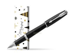 Parker Urban Muted Black CT Fountain Pen  in cover Snow Gift
