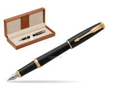 Parker Urban Muted Black GT Fountain Pen   in classic box brown