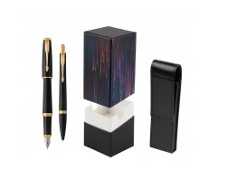 Parker Urban Muted Black GT Fountain Pen T2016 + Ballpoint Pen in a Gift Box  StandUP Crazy line