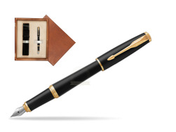 Parker Urban Muted Black GT Fountain Pen   single wooden box  Mahogany Single Ecru