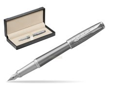 Parker Urban Premium Silvered Powder CT Fountain Pen   in classic box  black