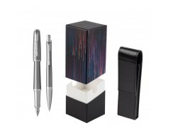 Parker Urban Premium Silvered Powder CT Fountain Pen + Ballpoint Pen in a Gift Box  StandUP Crazy line