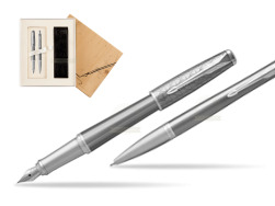 Parker Urban Premium Silvered Powder CT Fountain Pen + Ballpoint Pen in a Gift Box in Standard 2 Gift Box