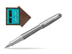 Parker Urban Premium Silvered Powder CT Fountain Pen   single wooden box  Wenge Single Turquoise